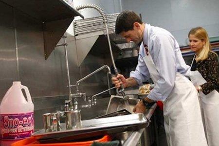 Работа посудомйщика на посудомойке