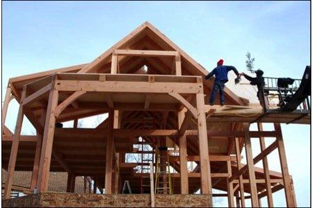 Работа плотника (каркасные дома)