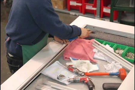 Работа по производству алюминиевых окон в Литве