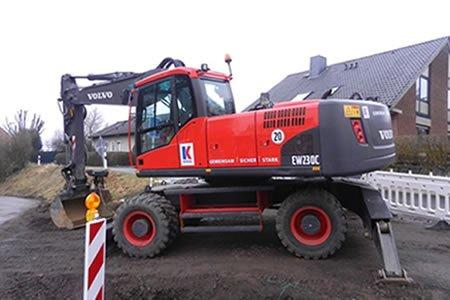 Работа для экскаваторщика на строительство дорог в Дании
