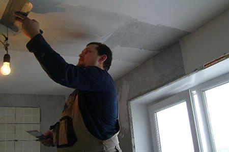 Работа шпаклевщика на строительстве