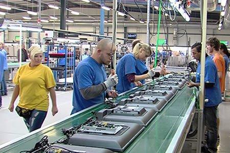 Работа на производстве электронной промышленности