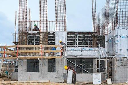 Работа для монолитчика на строительном объекте