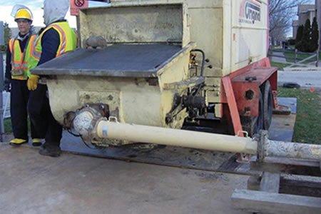 Работа для оператора бетононасоса на площадке для бетонирования