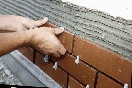 Работа для строителя на кладку клинкерного кирпича