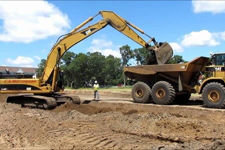 Работа для машиниста экскаватора на строительстве дорог