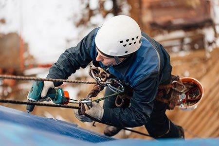Работа для прломышленного альпиниста на строительстве
