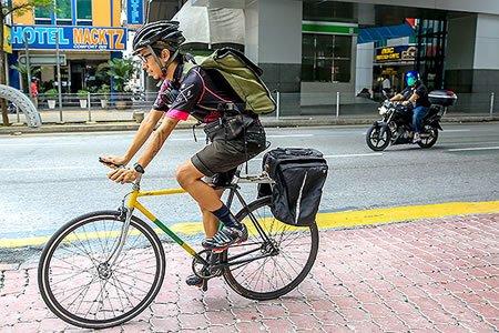 Работа для велокурьера по доставке товара