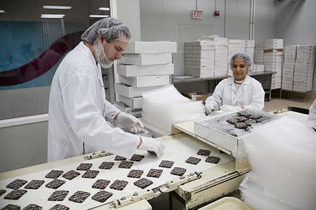 Работа на шоколадной фабрике