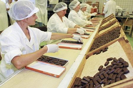 Работа на производстве шоколадных конфет