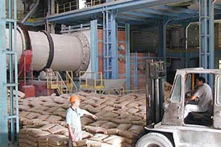 Работа на заводе по производству цемента
